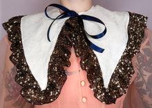 Ivory & Sequin Ruffle Collar ~ AW20 Drop