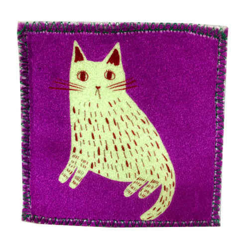Sad Cat Handmade Velvet Patch
