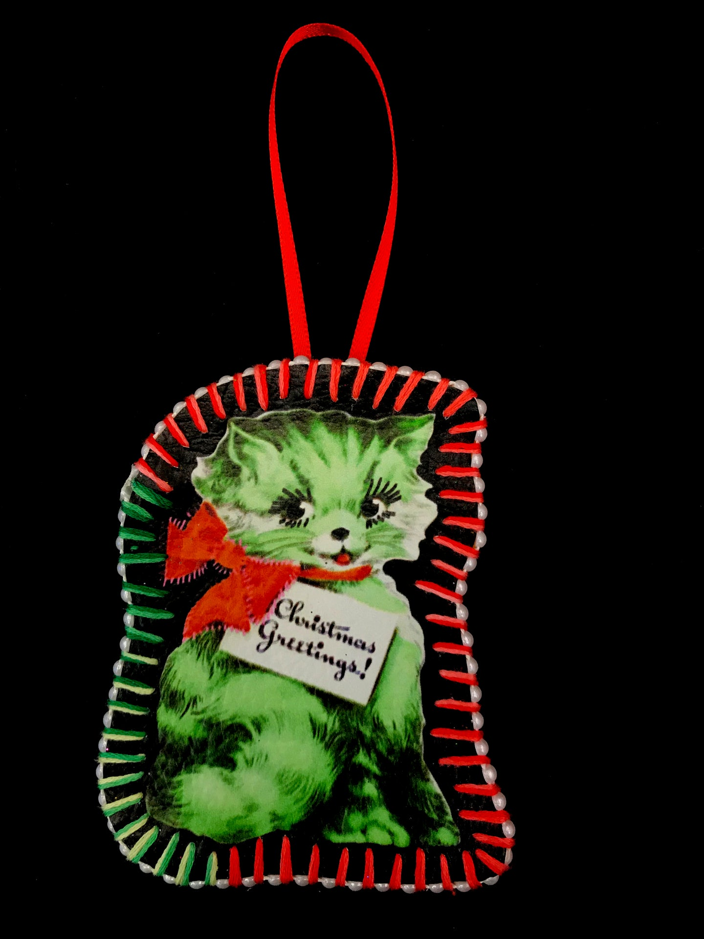 Handmade Vintage Cat Decoration