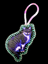 Purple Mascot Cat Decoration