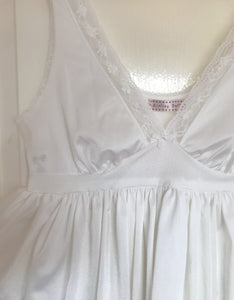 Silky White Vintage Top UK 6 - 12