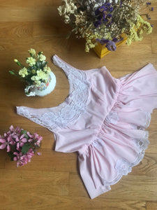 Candy Pink Vintage Top Uk 6 - 10