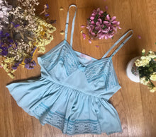 Powder Blue Vintage Top UK 8 - 12