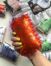 Flaming Cherry Ruffle Mini Cushion