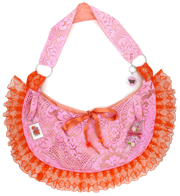 Pink Lace Moon Sling Ruffle  Bag ~ February 2021