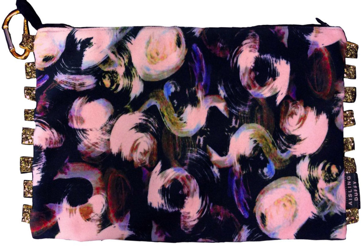 I Got My Eye On You HandMade Velvet ClutchBag