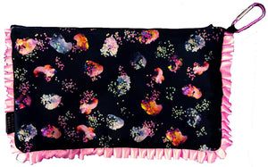 Pretty Little Girl HandMade Velvet Printed ClutchBag