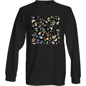 Confetti Black Long Sleeve