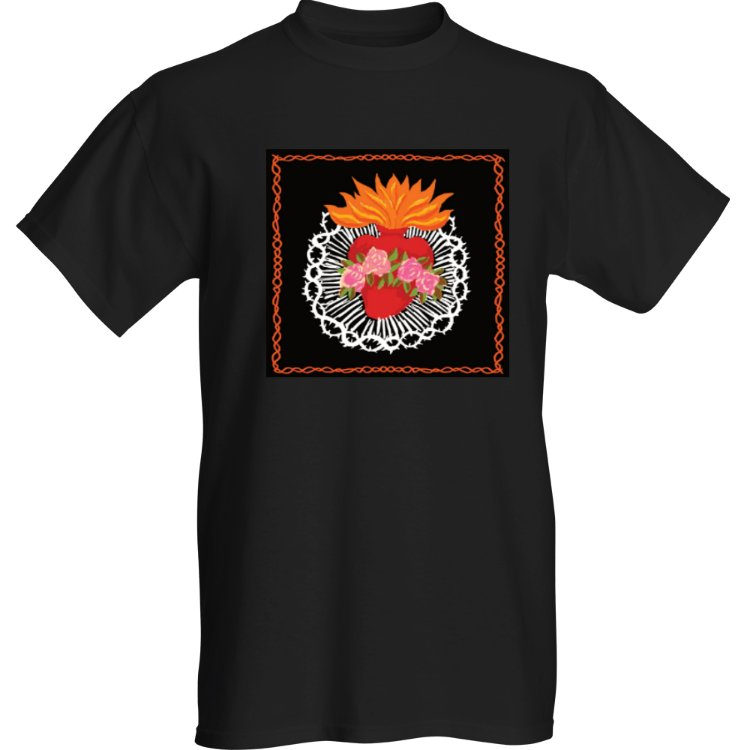 Sacred Heart Black TShirt