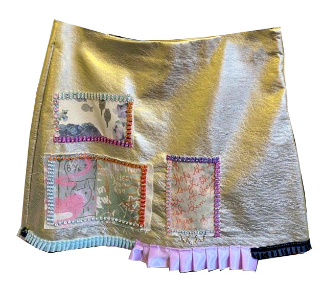 Gold Diamonte Skirt