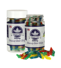 Neon Gummy Sour Strips 500mg