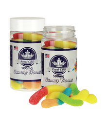 Neon Gummy Worms 500mg