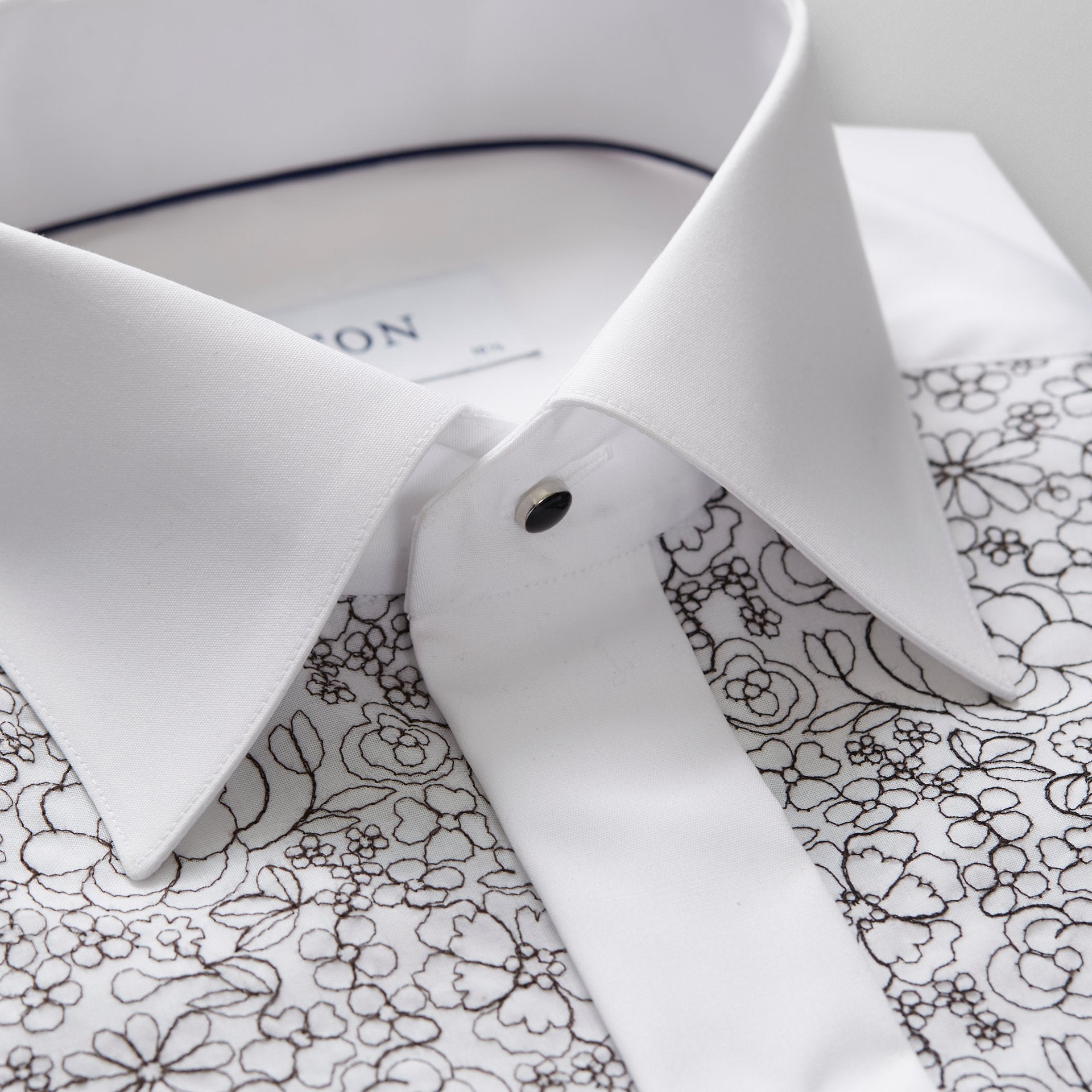 Floral Embroidery Evening Shirt