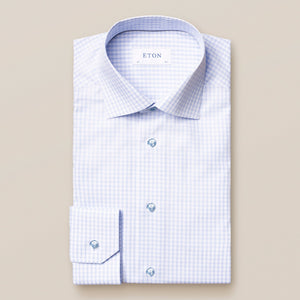 Muti-Line Square Print, Cut Away Collar