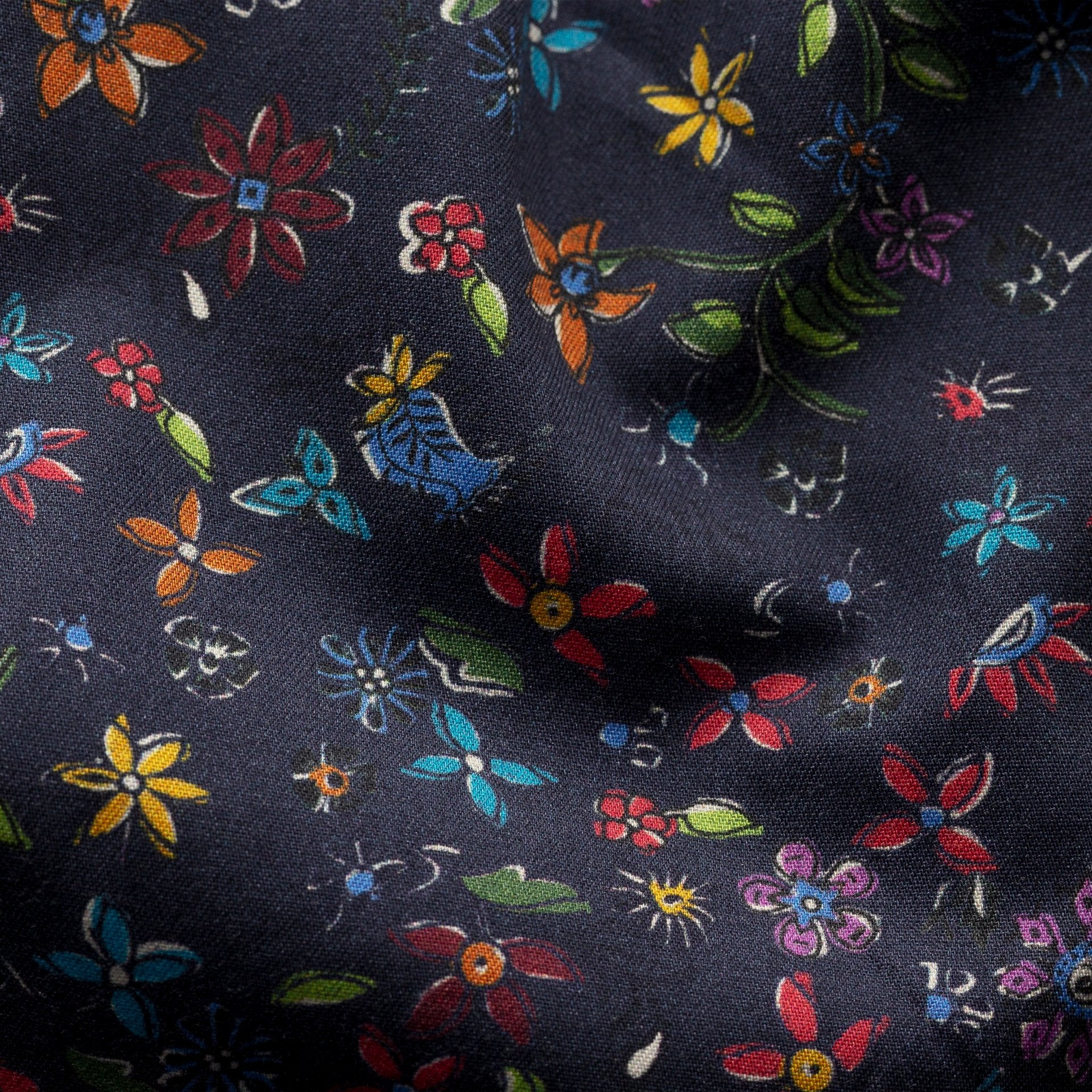 Navy Valley of Flowers Shirt