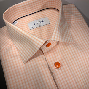 Orange Check Pattern Shirt