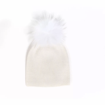 Olilia - Angora Single Pom 0-18M (Ivory)