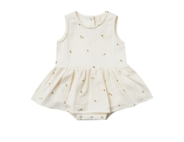 Quincy Mae - Skirted Tank onesie - Ivory