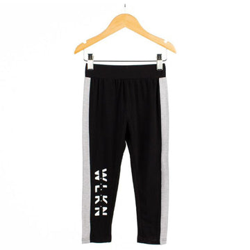 WLKN - Jr block stripe legging (black)