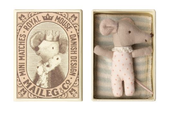 Maileg - Baby Mouse - Sleepy/Wakey box (Girl)