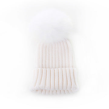 Olilia - Merino Single Pom 0-18M (Ivory)
