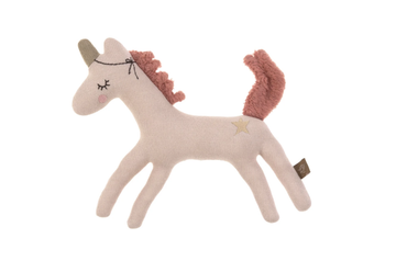 Lassig - Knitted Toy Rattle - Magic Horse Rose