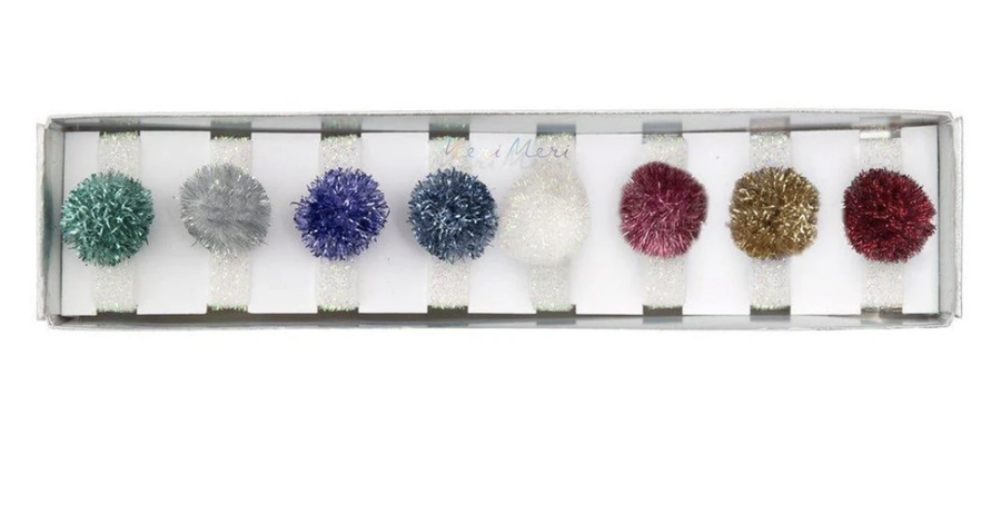 Meri Meri - Metallic Pompom Hair ties
