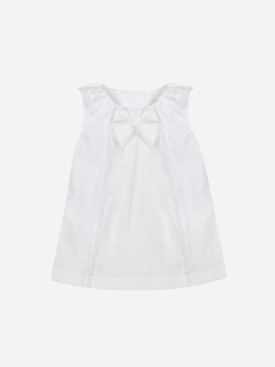 Patachou - COTTON SATIN WHITE DRESS