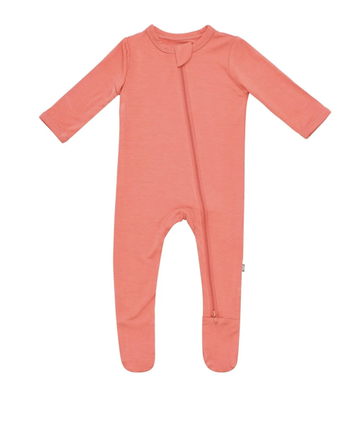 Kyte Baby - Zipper Footie - Melon