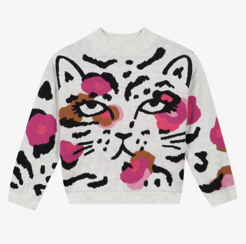 Catimini - Printed cheetah sweater