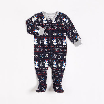 Petit Lem - Baby Sleeper Knit - Snow day