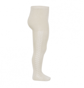 Condor - Side openwork tights - Oatmeal