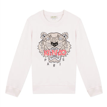 Kenzo - Tiger Logo Sweater - Light Pink