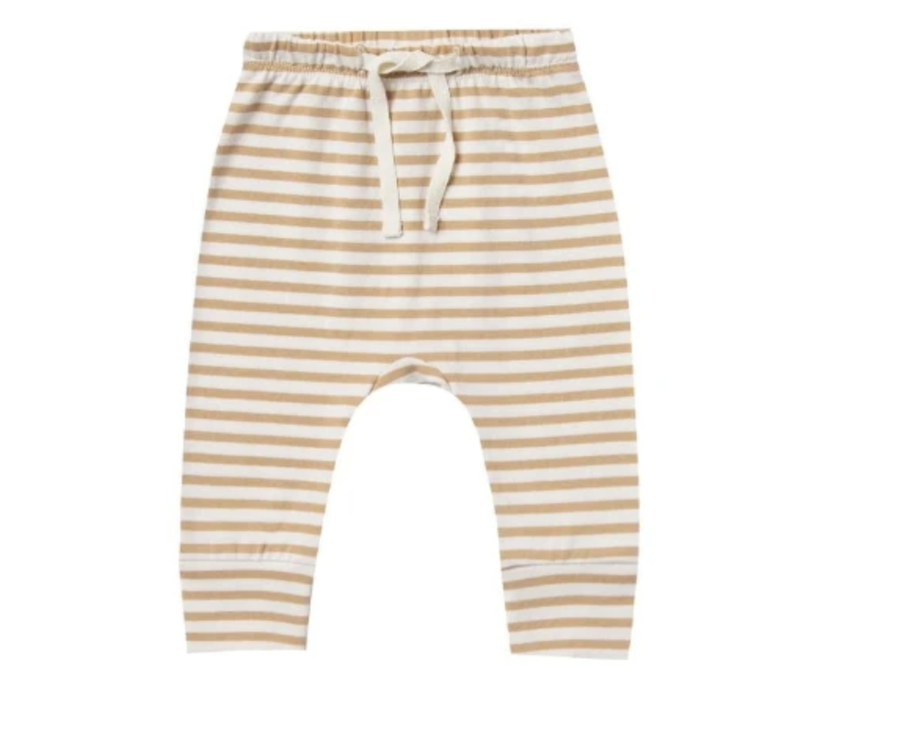 Quincy Mae - Drawstring Pant - Gold Stripe