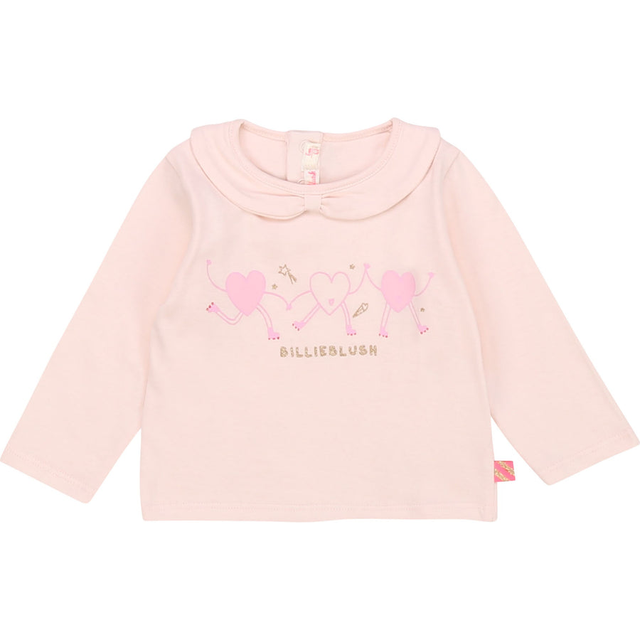 Billieblush - Collared Long sleeve tee - pale pink