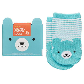Petit Collage - Organic Socks 0-6M Bear