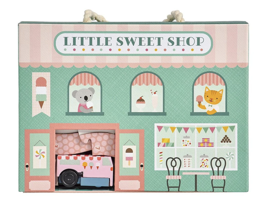 Petit Collage - Little sweet shop wind up and go set