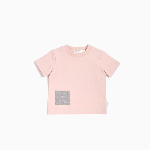 Miles Baby - Pink T-shirt with contrast pockets