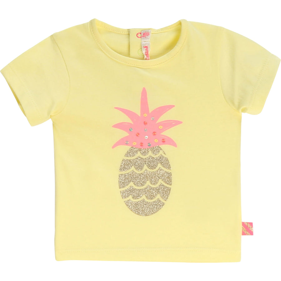 Billieblush - pineapple tee - yellow