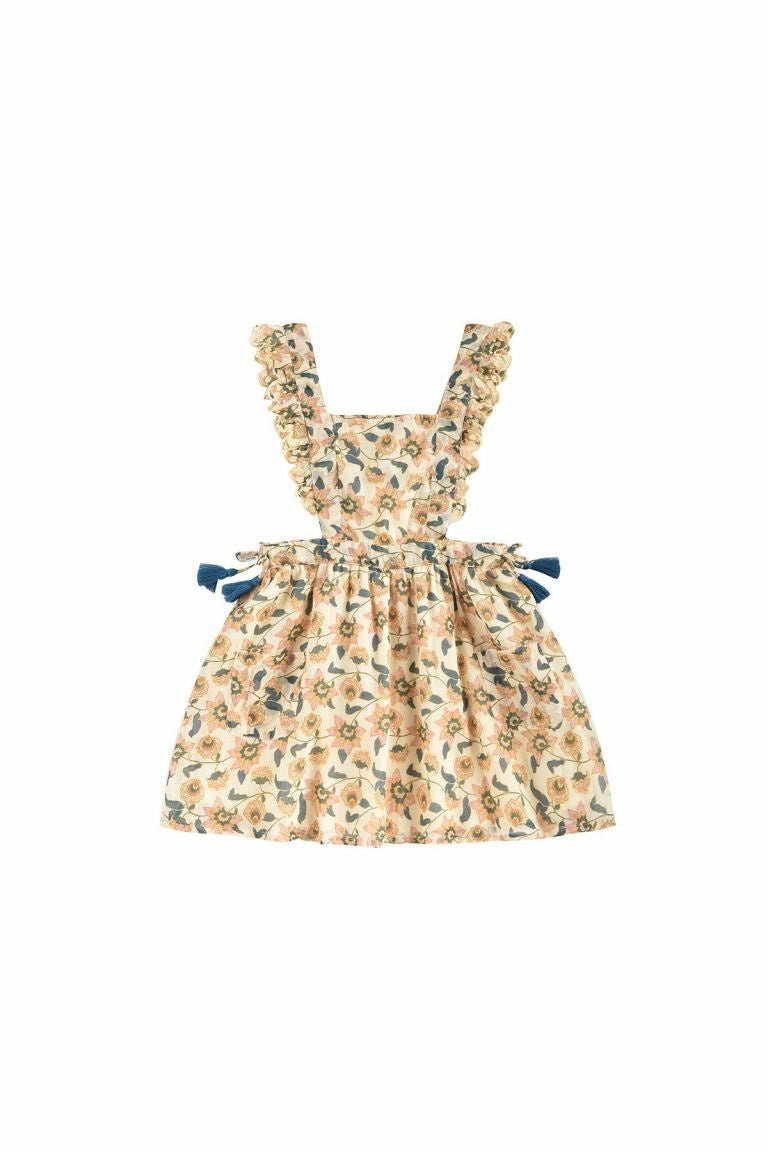 Louis Misha - Dress Mistinguette Cream Flowers