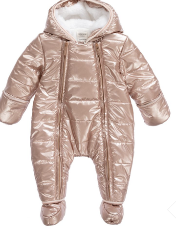 Carrement Beau - Rose gold snowsuit
