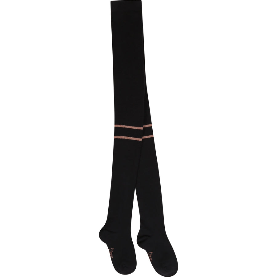 Carrement Beau - Black Tights with Stripes