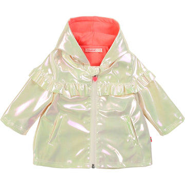 Billieblush - Double lined rain jacket - pearl