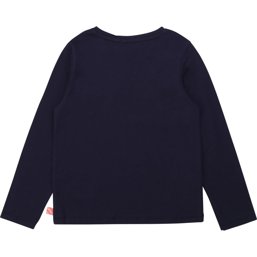 Billieblush - Navy Printed Long Sleeve Tee
