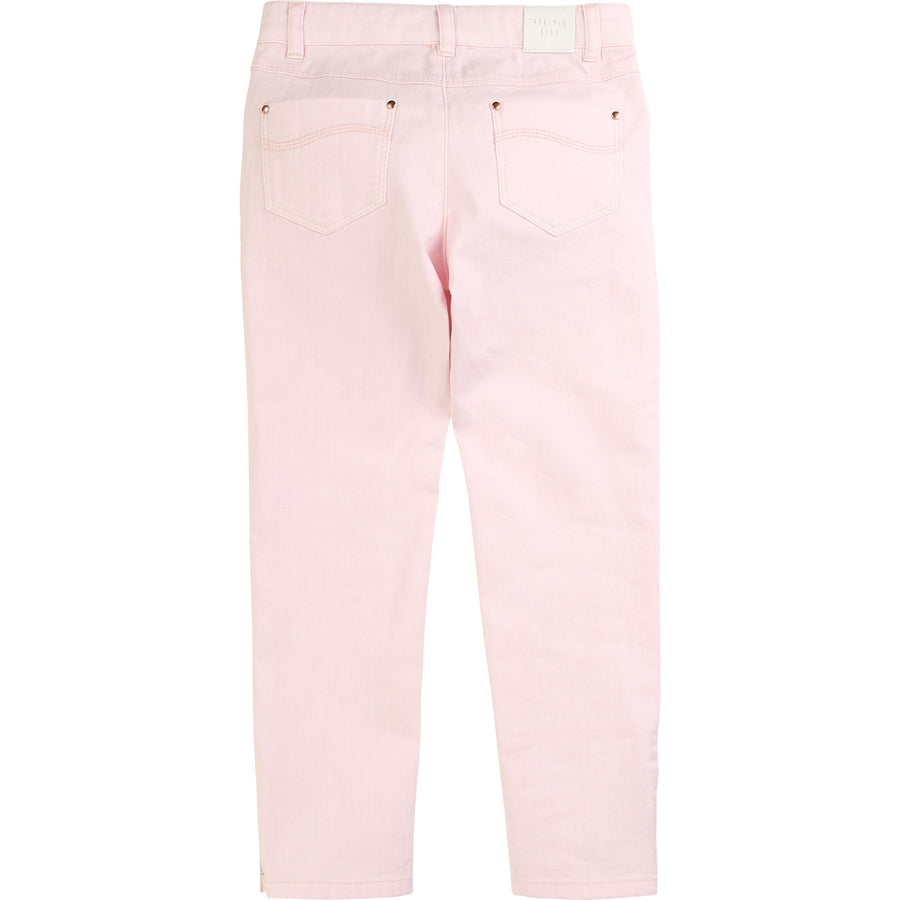 Carrement Beau - Slim pink cotton trousers