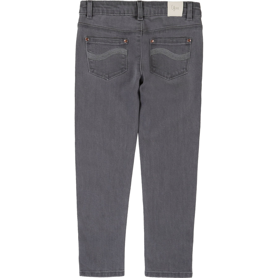 Carrement Beau - Grey Skinny Jeans with Buttons