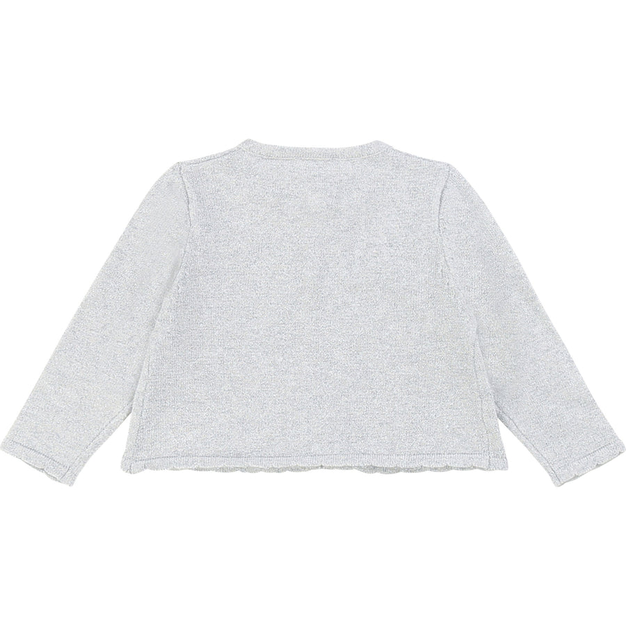 Carrement Beau - ceremony cardigan - silver
