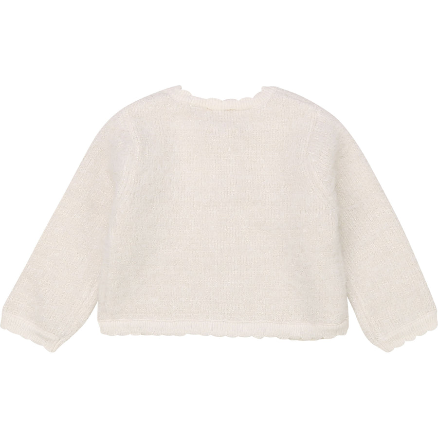 Carrement Beau - Ivory & Gold Knitted Cardigan