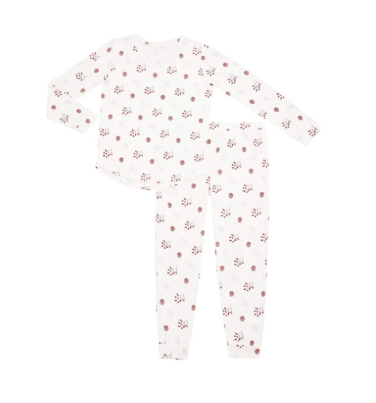 Kyte baby - Womens Jogger Pajama set - Holly Berry