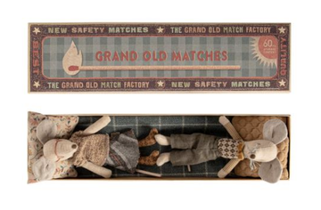 Maileg - Grandma & Grandpa Mice in Matchbox